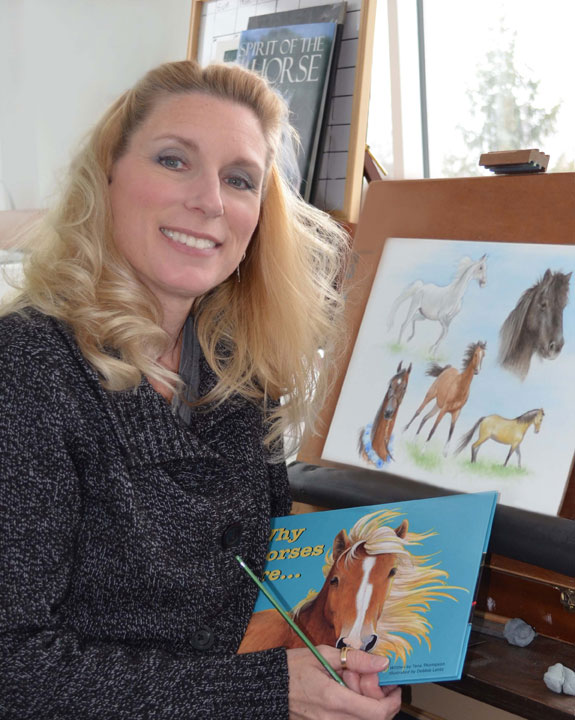 Debbie Lentz, illustrator of Why Horses Are and Why Cats, from the Love Unleashed childrens picture book series.