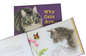 Childrens book Why Cats Are, inside page