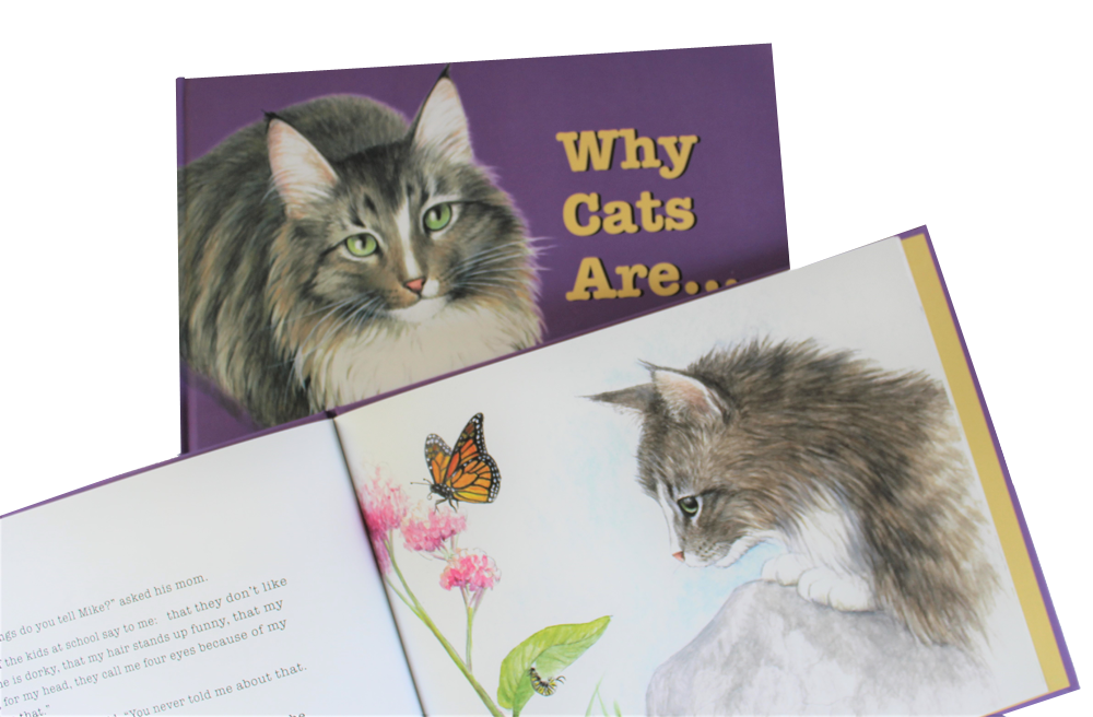 Childrens book WHY CAT ARE, inside page