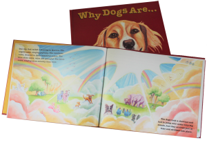 Childrens picture book Why Dogs Are, inside page, by Marita Gentry