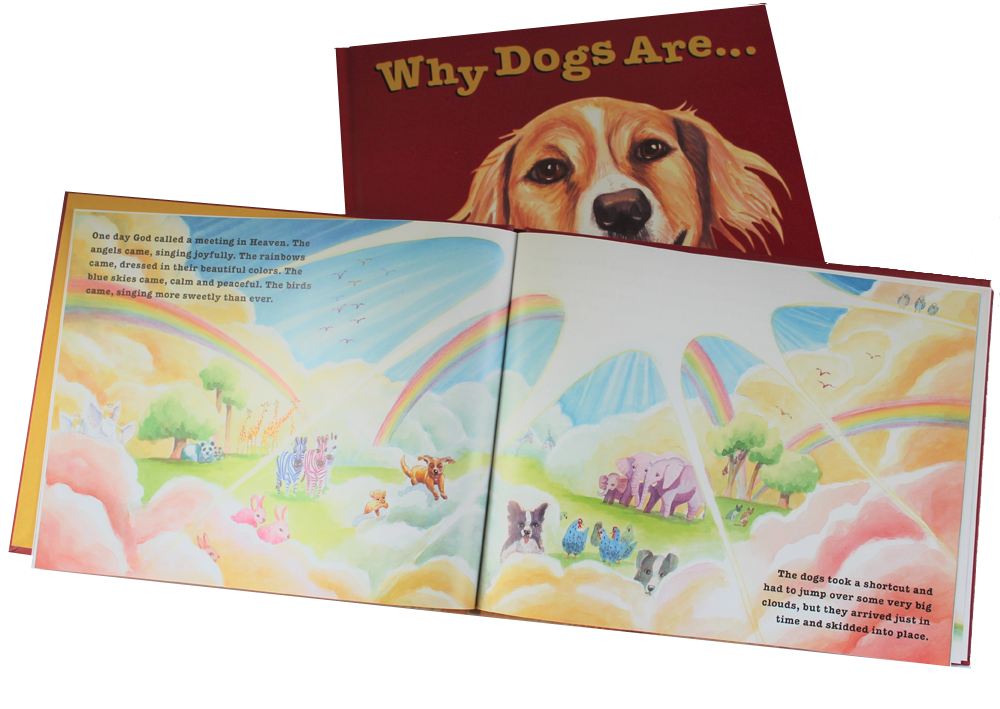 Childrens picture book Why Dogs Are, inside page