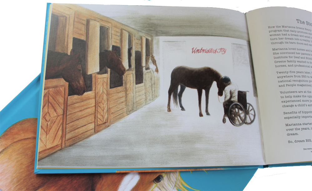 Inside page from illustrated childrens picture book Why Horses Are