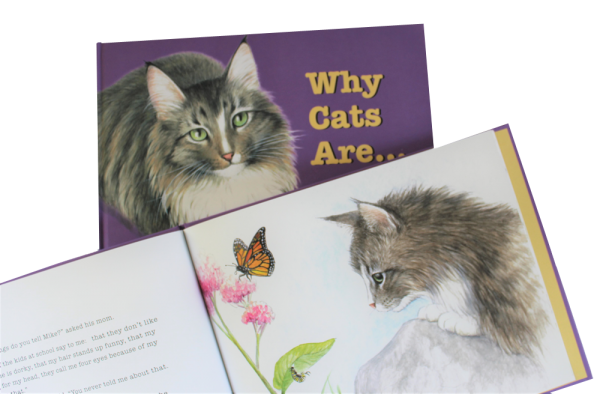 WHY CATS ARE childrens picture book - cover and inside page