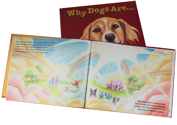 WHY DOGS ARE childrens picture book, cover and inside page