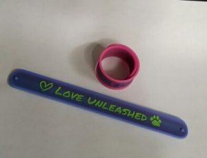 SlapBand bracelet with LOVE UNLEASHED logo