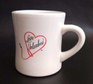LOVE UNLEASHED Diner-style Retro Coffee Cup